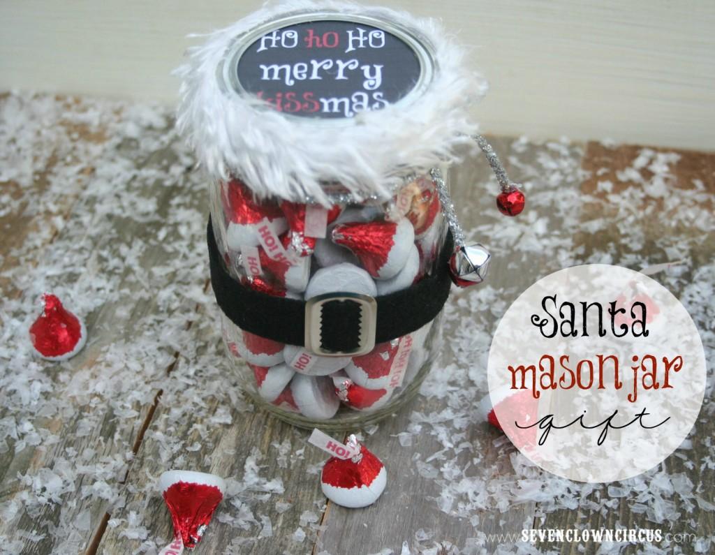 santa mason jar gift