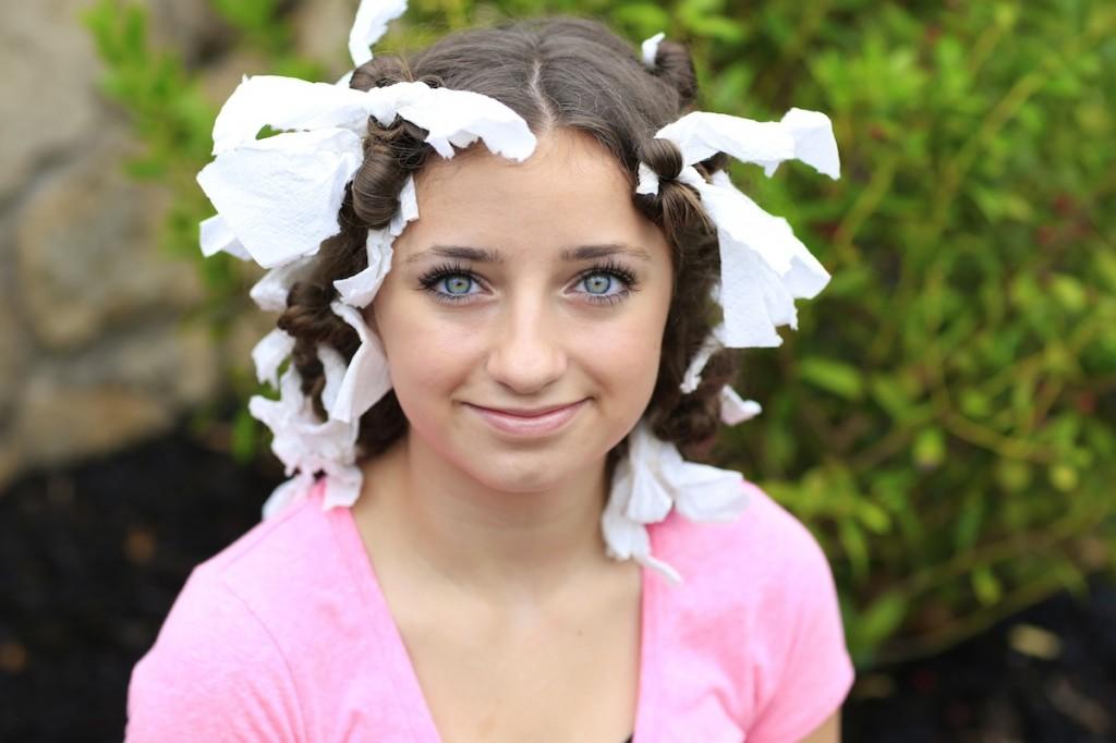 paper towel no heat curls