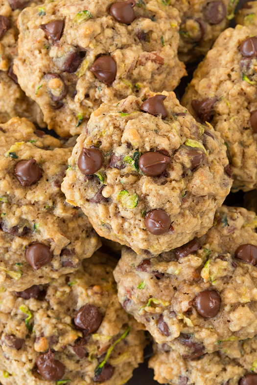 zucchini oat chocolate chip cookies