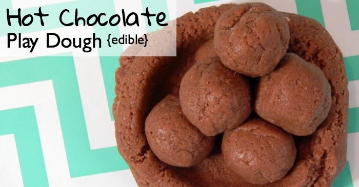 edible hot chocolate play dough