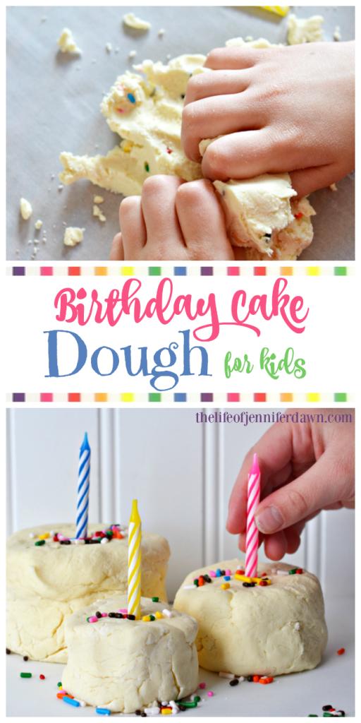 edible play dough birthday cake