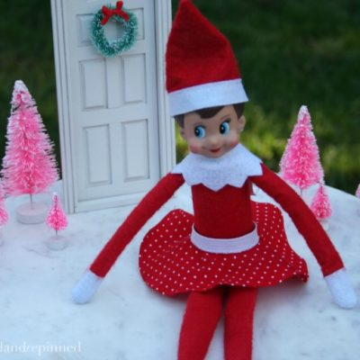 DIY Elf on the Shelf Skirt