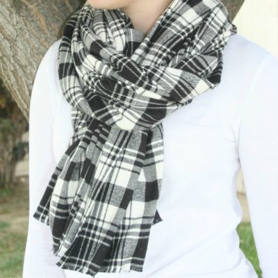 No Sew Flannel Scarf