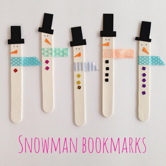 popsicle stick snowmen