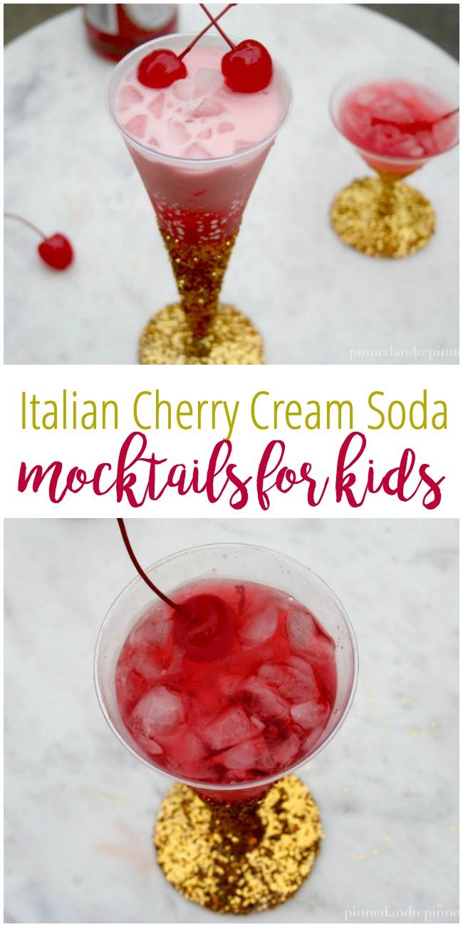 Italian Cherry Cream Soda - Mocktails for Kids