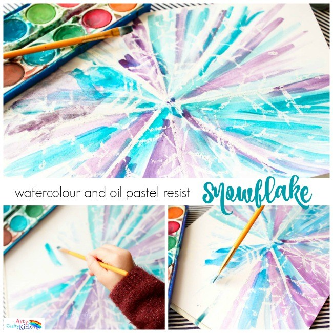 Watercolor Snowflake Art