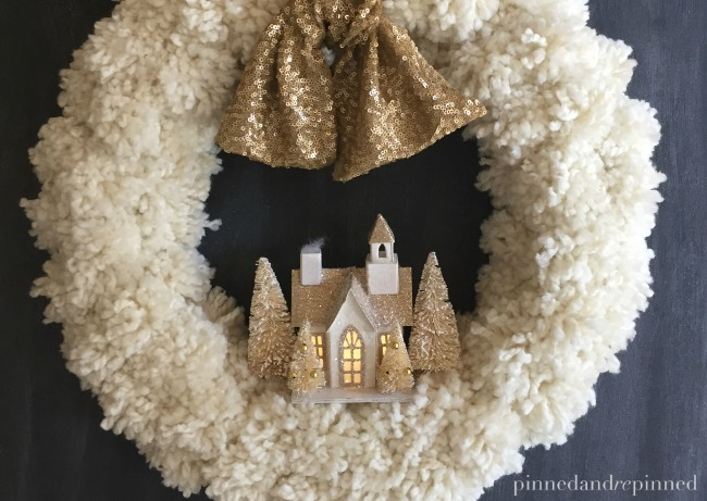 diy pom pom christmas wreath