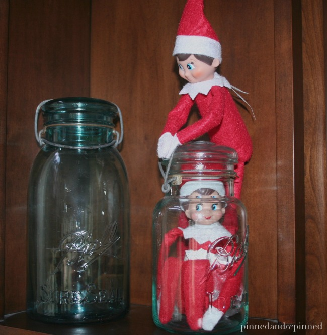 elf stuck in a jar