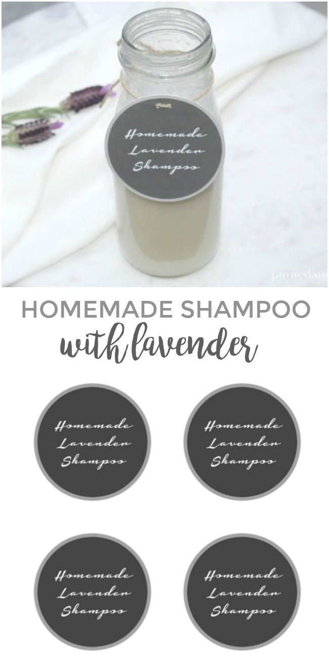 Homemade Shampoo with Lavender