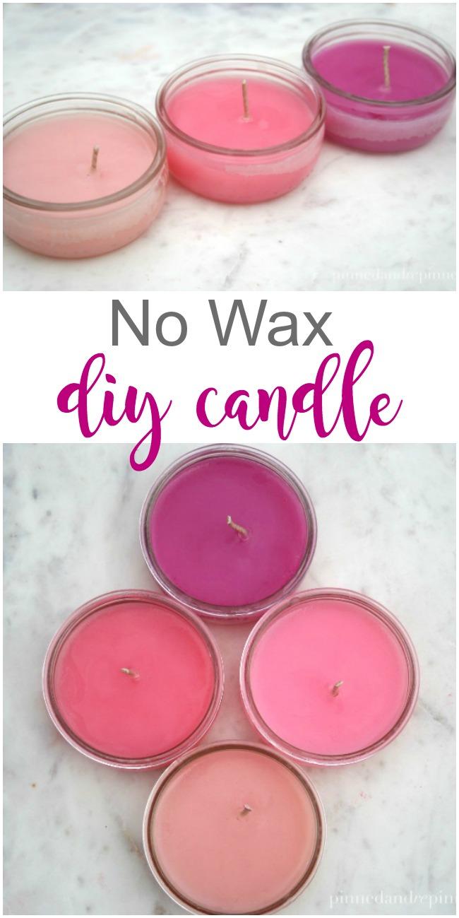 No Wax DIY Candle
