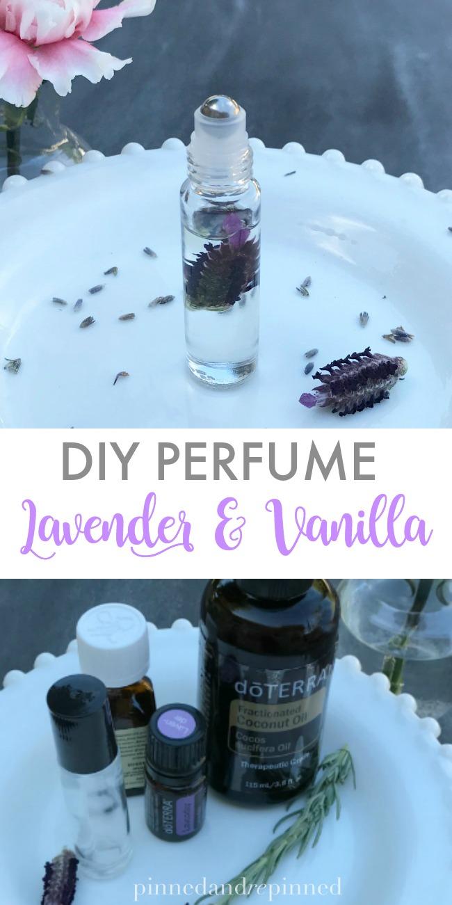 diy perfume lavender & vanilla