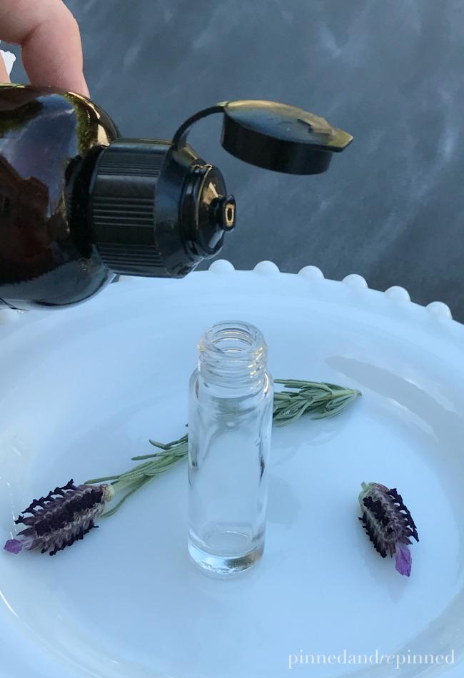 lavender and vanilla perfume