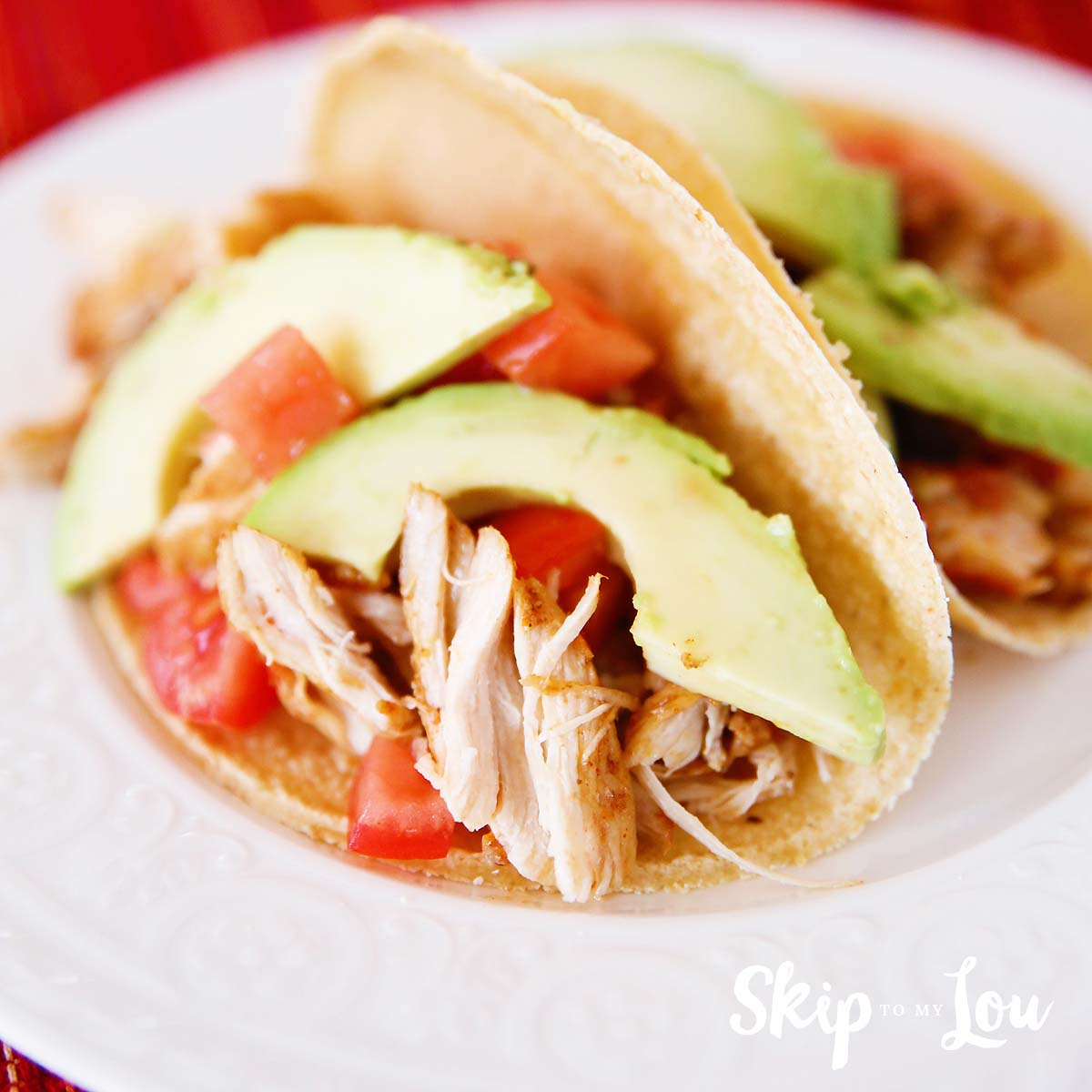 Pressure cooker chicken soft tacos
