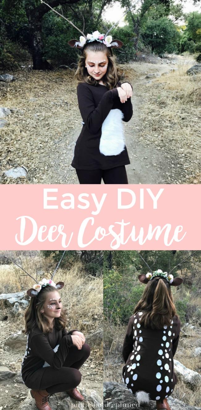 Easy DIY Deer Costume for Girls